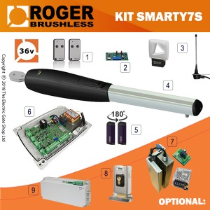 roger technology brushless smarty 7 single gate kit