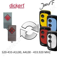 DICKERT Gate Remote 433.920MHZ, Replaced by Jane F Remote.