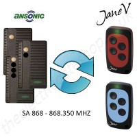 ANSONIC Gate Remote 288.00MHZ, Replaced by Jane V Multi-frequency Remote.