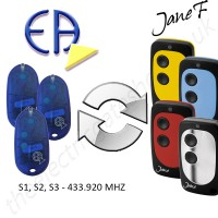 europe automatishmes gate remote 433.920mhz, replaced by jane f remote.