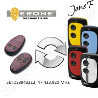 erone gate remote 433.920mhz, replaced by jane f remote.