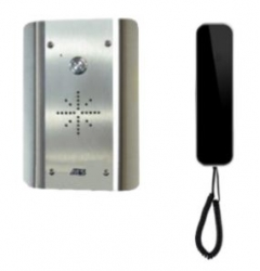 aes slim-cl-as stainless wired audio intercom system