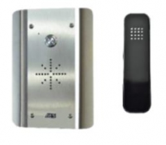 aes slim-hf-as stainless wired audio intercom system - handsfree