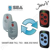 SEA Gate Remote 868.350MHZ, Replaced by Jane V Multi-frequency Remote.
