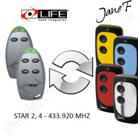 life gate remote 433.920mhz, replaced by jane f remote.