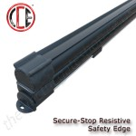 Securestop Commercial resistive safety edge for gates both swing and sliding, the figure 8 design allows for greater safety and sensitivity on large gates.