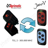 APRIMATIC Gate Remote 305.00MHZ, Replaced by Jane V Multi-frequency Remote.