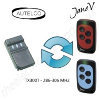 AUTELCO Gate Remote 206.00MHZ - 306.000MHZ, Replaced by Jane V Multi-frequency Remote.
