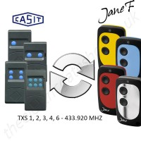 casit gate remote 433.920mhz, replaced by jane f remote.