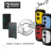 telcoma gate remote 433.920mhz, replaced by jane f remote.