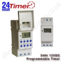 A 24 hour 12vdc programmable timer to activate / deactivate components on your gate at certain times.
