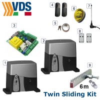 vds twin sliding gate kit