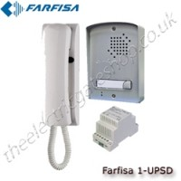 farfisa high quality single apartment italian designed audio door entry system