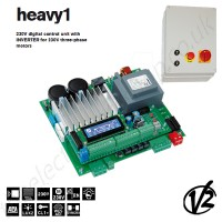 230v digital control unit with inverter for 230v three-phase motors.
