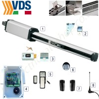 vds master single electric gate kit. the master features built in opening and closing stops. with advanced obstacle detection system.