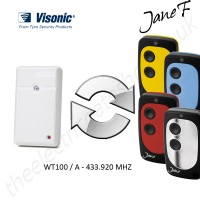 visonic gate remote 433.920mhz, replaced by jane f remote.