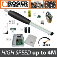 roger technology - brushless smarty 4 high speed single gate kit