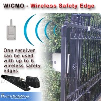 wireless safety edge system - certified rubber safety edge incorporating wireless transmitter.