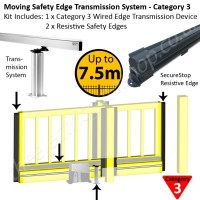 Transmission system for gates up to 7.5m allows Category 3 safety edges to be applied for constant monitoring of obstacles