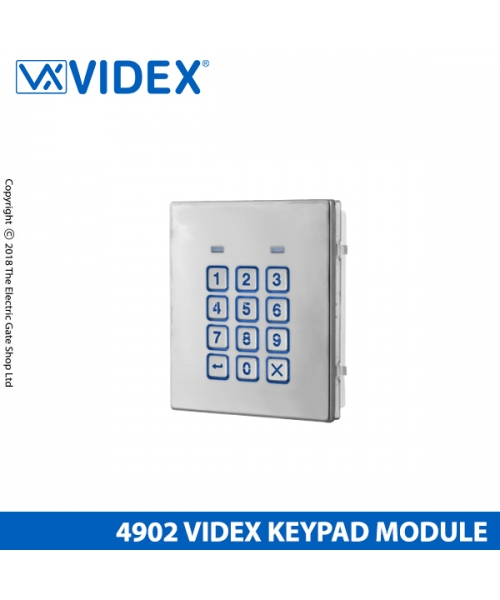 Videx 4902 Backlit 4000 Series Keypad Matte SS