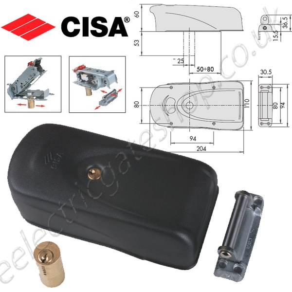 Cisa Electtrika Gate Lock the electric gates shop providing the industry standard for the cisa electric lock wiring diagram at n-0.co